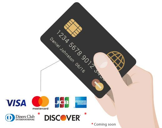 Accept all major credit cards.